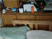 出售一单人纯实木床给钱就卖