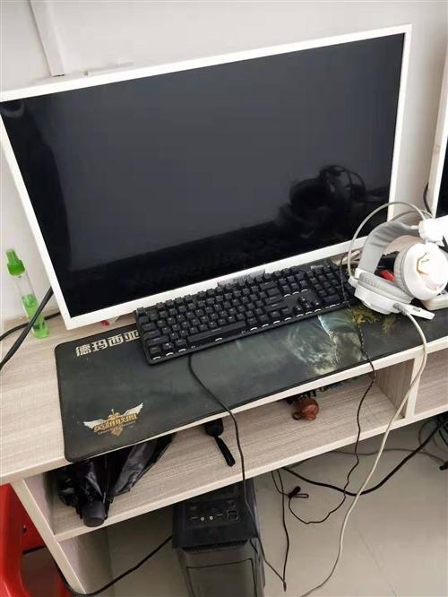 网吧高配电脑两台 硬盘以装 超大屏幕 吃鸡无忧 游戏神机