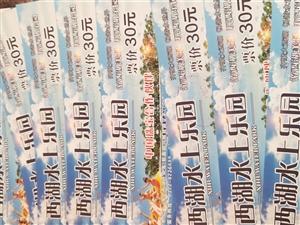 滑县西湖水上乐园的门票9张