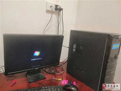 出售闲置电脑一套可正常使用!键盘鼠标屏幕齐全!无音响