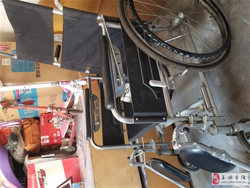 天津長行牌輪椅,頭枕可卸,可折疊,一次沒用過,一直放在家,自提