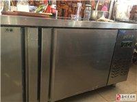 出售操作台冰柜带三层置物架,原价2430,双温,尺寸长180,高80,宽80,使用六个月,无损坏,使...
