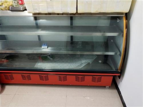 蛋糕卤菜用展示柜,两米长九成新