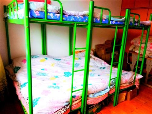 上下铺铁床带床板、床垫