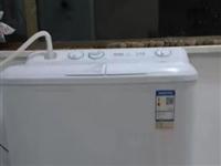 海爾半自動洗衣機,洗重7kg,八成新。