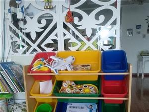 儿童玩具架,高80cm长87 cm宽28cm,12个筐。九成新,可自己拆卸安装。原价280元