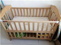 闲置二手婴儿床,电动摇篮(带蓝牙),婴儿床实木,下面轱辘卸掉了,有需要的联系我,需要自取