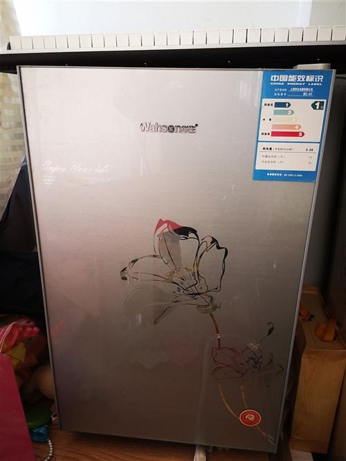 華生冰箱,高80CM,寬48CM,冷藏室容積73升,冷凍室容積18升,適合一個人使用,