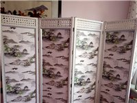 古典四扇屏風,長二米,高一米八。尚未使用,內框鋁和木制,