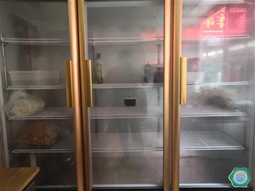 三开门保鲜冷柜一台,高2米,宽1.8米,9成新,有需要的联系!