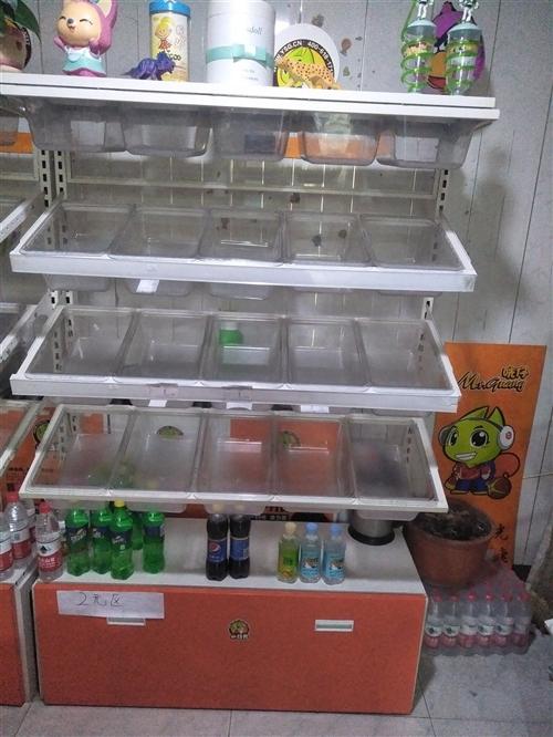 超市組裝貨架,小冰柜低價出售