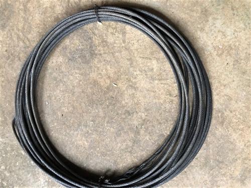 出售八个里的钢丝绳,,,有七根,,一根大概二三十米,,,不毛不断丝,,,有用得着的联系我,,价格便宜...