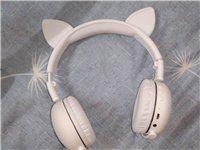 貓耳朵藍牙耳機,9成新,可連接藍牙可插線可接打電話,音質很好,千元機質量