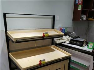 水果店已转出 新买的冰箱展示柜 收银台 7个水果架 打包出售 可整体 有优惠 也可零售  价格可议