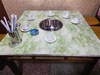 有15张彩色大理石面九成新火锅桌子,1.2/80-便宜出售。卖给需要的人。带炉头**