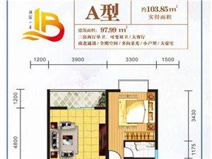 湖滨一号3室 2厅 1卫42.8万元