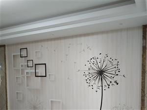 墻紙墻布電視背景安裝