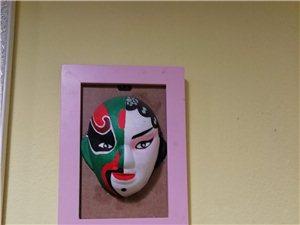 手绘脸谱、手绘墙