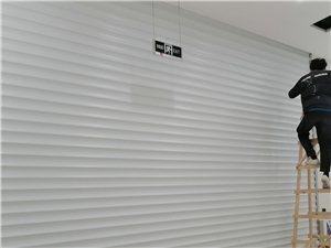 沂水县电动卷帘门安装维修,玻璃门肯德基,钢结构搭棚