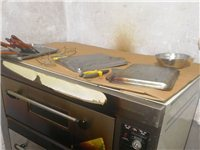 雙層電烤箱,用了一年,最高溫度四百,商用八成新,需處理