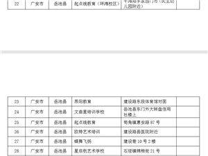 四川省教育厅发布广安岳池培训机构黑名单