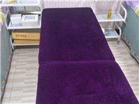 现有美容床4张,保存完好,八成新,低价出售,每张100元!美容架四个,每个50元,有需要开美容店的,...