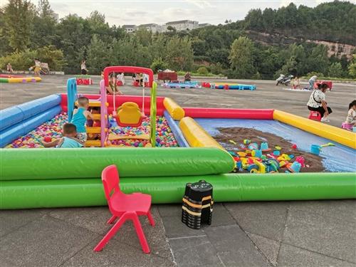 因老板無心經營   低價轉讓兒童游樂設施(九成新)釣魚?? +堆沙子滑梯秋千海洋球!