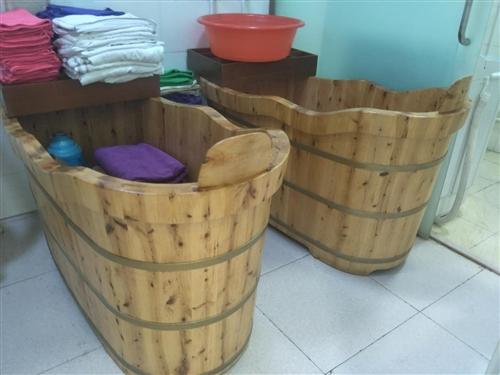 9成新1.5米泡澡瑤浴桶2個