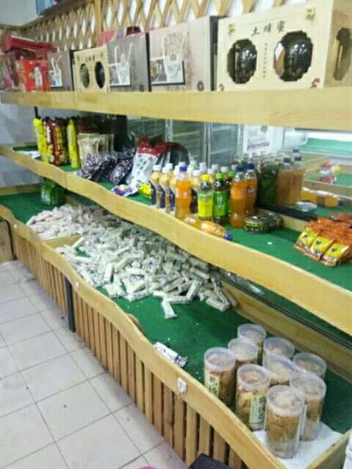 出售,出售, 高品质水果货架钢木3层波浪线形总共10米,阶梯货柜2个,柜台,水果灯箱,追求高品质的...