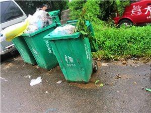 费县南外环山水绿城西北京小龙人幼儿园门口放置气味难闻的垃圾桶