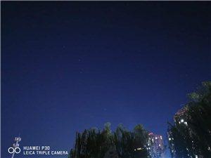 夜空:台风过后,天空都亮了,拍到北斗了