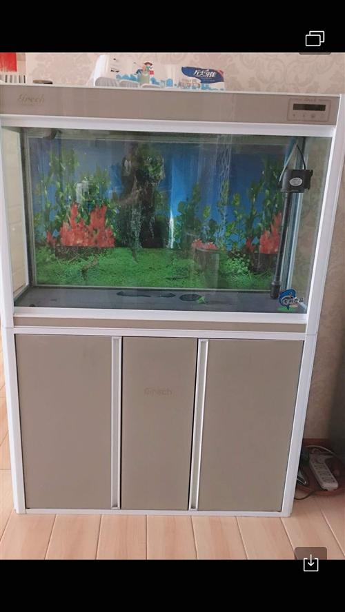 因搬家到外地,出售新买的鱼缸,鱼缸长一米,宽四十,高一米六,新买价格两千元,现价一千五,带全套过滤器...