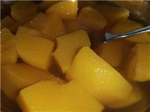 纯绿色黄桃罐头