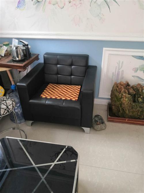 办公沙发,茶几,九成新