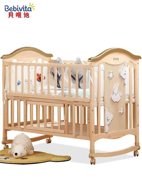 出售全新嬰兒床,一床倆用,可做寫字桌