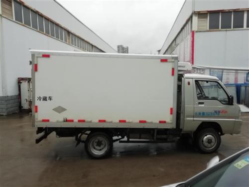 时代驭菱后双轮冷藏车,1.5L,11O马力,货箱3米,7个方,箱板材质8cm聚氨酯保温板,上海松芝超...