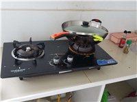 液化氣灶灶臺,雙灶頭,帶鍋一枚,火鍋一枚,鏟子一枚,
