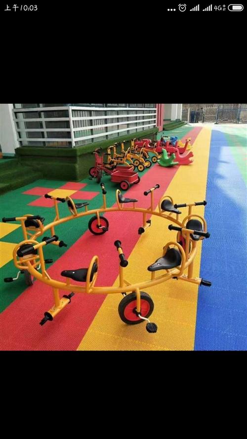 幼儿园玩具:滑梯、转椅、悬浮地板处理,有意者联系