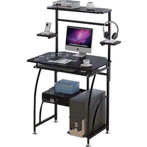 黑色台式机电脑桌套装,7成新.桌椅一起100块!运费自理!机不可失!有需要的联系!先到先得!非诚勿扰...