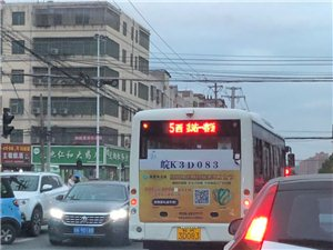 临泉公交占道行驶还不停的摁喇叭