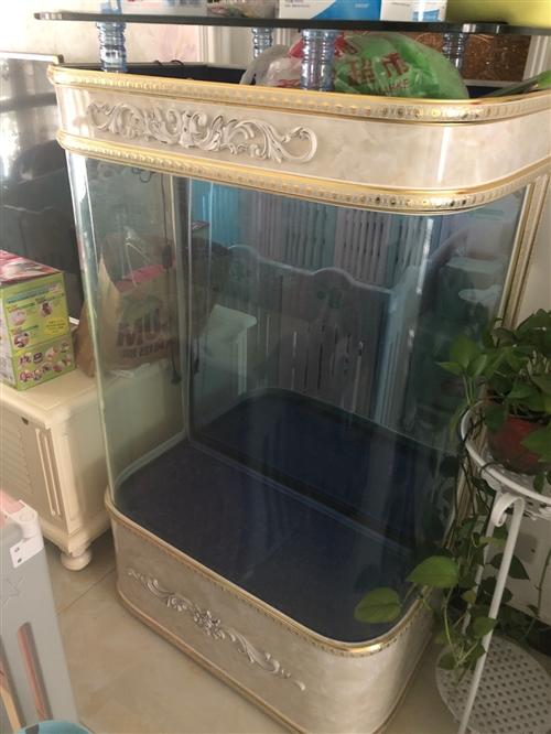 9.5成新歐式魚缸 家里有孩子想騰地方,寬80,買回來一年,使用兩個月后一直閑置。天王水族3000元...