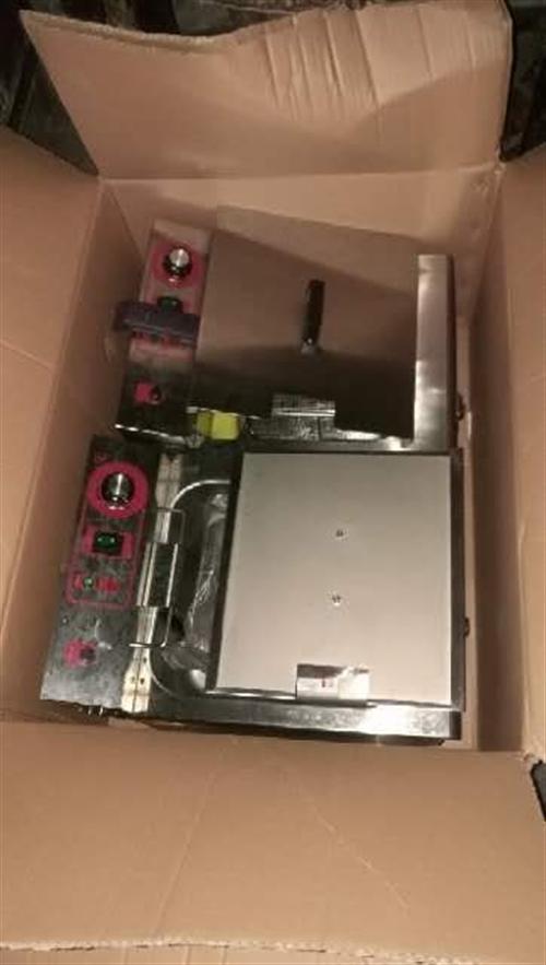 全新雙格電動油炸機出售13452231772