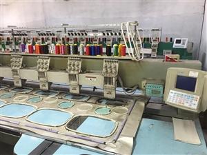 英轮电脑绣花机,12头 间距400 直线导轨 地址:高阳县城