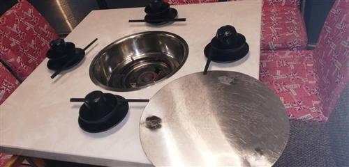 本店升級改向,現出售一批大理石桌面火鍋桌,天然氣灶,火燒石中餐桌。九點五成新,價格合理。電話:189...