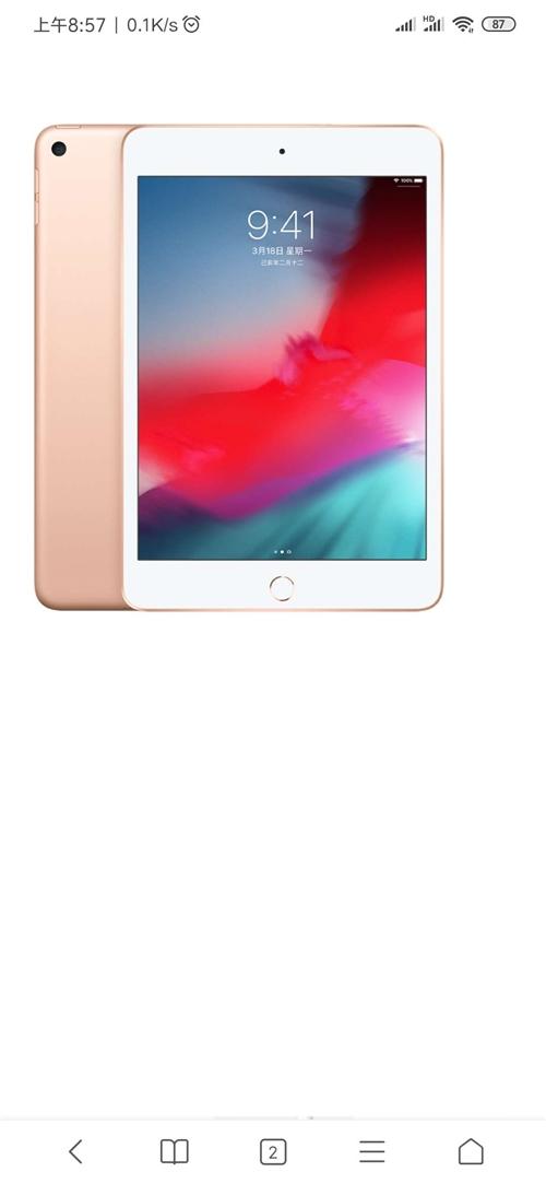 苹果平板电脑,iPad  mini5  金色  64g  国庆购于彬县金石通讯现2500卖。在保修期...