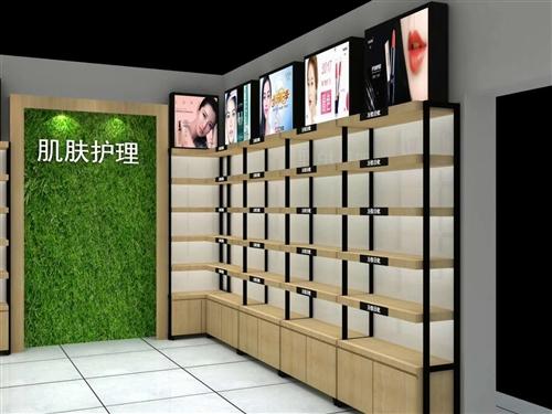 化妝品展柜 9成新 自己做來花了兩萬多