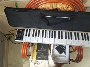 美音天使 手卷�琴88�I便�y式��I版加厚版�子琴成人折�B�和��I�P琴�菲� 61�I尊耀版-���白魔音喇叭...