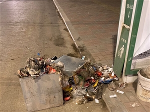 运河西路垃圾箱?#28216;?#28165;扫