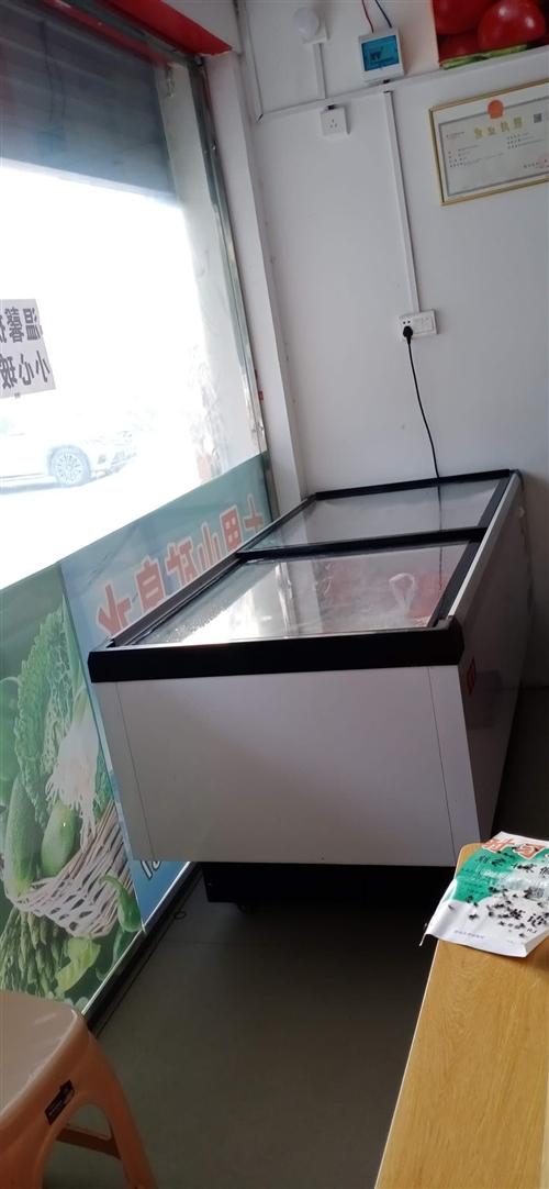 九成新大冷凍柜。通城縣二中后門對面