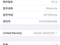 苹果XR128G黑色,今年4月份买的,明年3月份过保,配件包装耳机充电器都有,屏幕轻微划痕,3499...